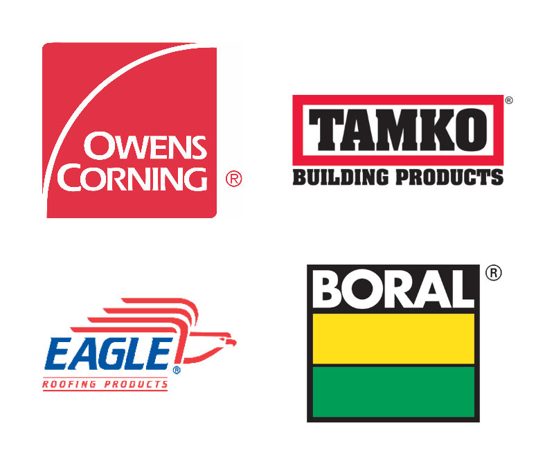owens cornering, tamko, eagle roofing products and boral